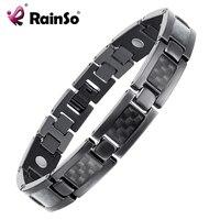 Top Quality Health Titanium Bracelet Bangle BLACK Plated Magnetic Care Bracelet Men Jewelry Love Bracelets OTB