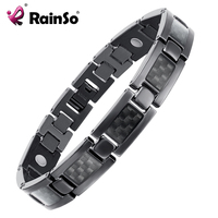 Top Quality Health Titanium Bracelet Bangle BLACK Plated Magnetic Care Bracelet Men Jewelry Love Bracelets OTB