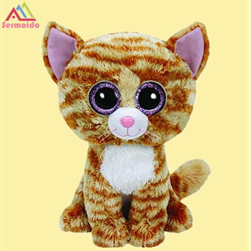 Sermoido 6 Ty Beanie Боос-табита кошка детские плюшевые игрушки куклы Коллекционные мягкие Игрушечные лошадки большой Средства ухода для век плюше...