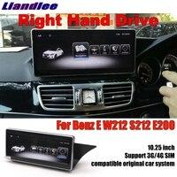 Liandlee для Mercedes Benz MB E W212 класс 2009 ~ 2016 правый руль автомобиля мультимедийный плеер CarPlay навигационная система, стереомагнитола gps навигации