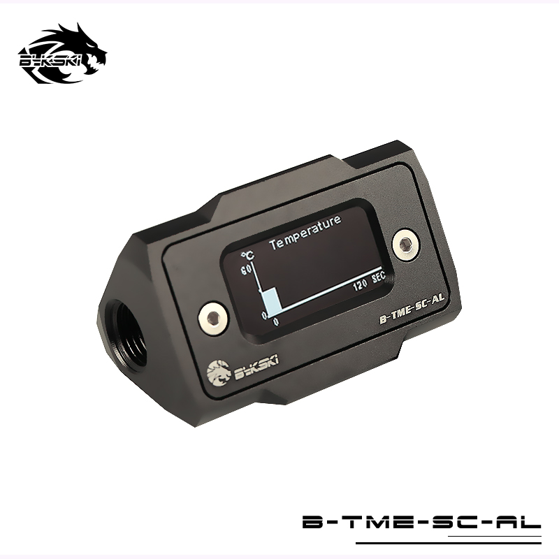 Bykski OLED Digital Display Water Temperature Meter Water Cooler System Double G1/4'' Thermometer Temperature Sensor Fitting 2016 new cassette to usb flash disk converter convert old cassette to u driver no need computer walkman free shipping