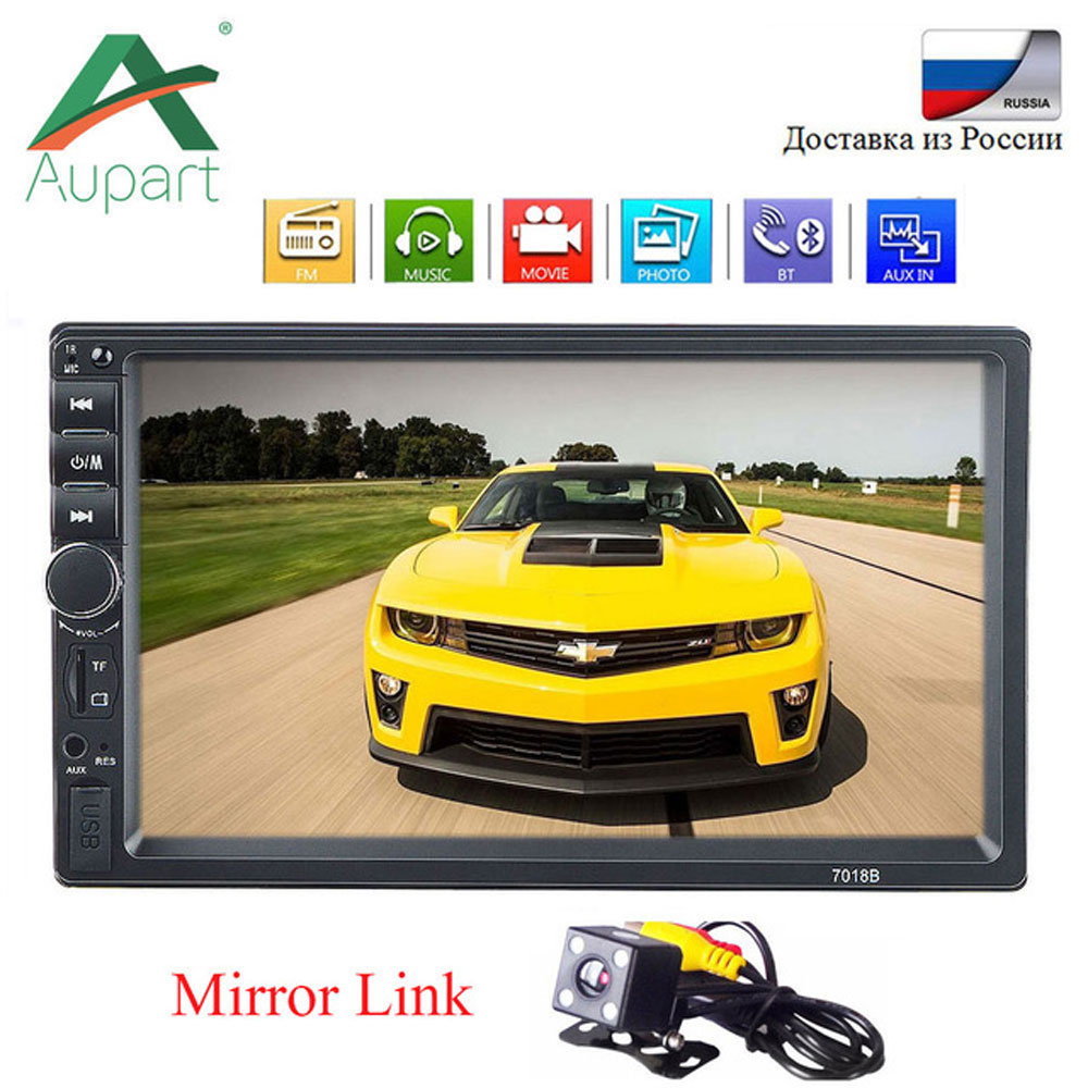 "radio car 2 din car stereo 7018b 7"" Touch Screen central multimidia para carro aux in rear view camera autoradio mp5 car player(China)"