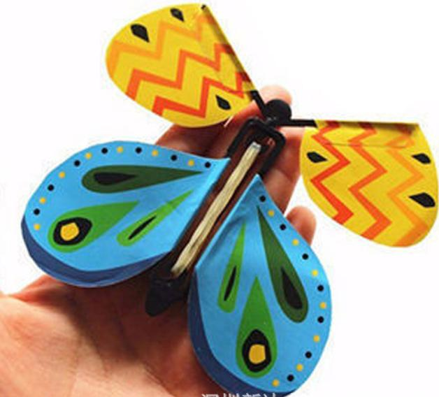 5pcs The magic butterfly flying butterfly with card Toy with empty hands solar butterfly wedding magic props magic tricks