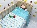 Promoção! 3 PCS berço berço jogo do fundamento do bebê berço cama definir 100% algodão, Incluem ( capa de edredão / folha / fronha )