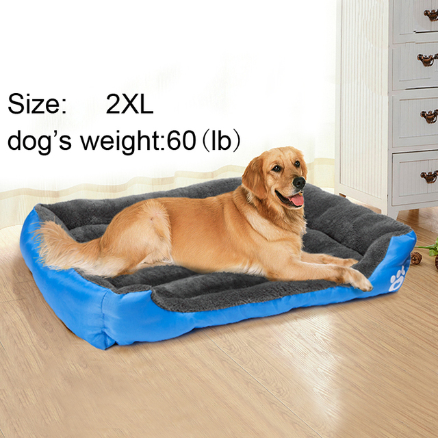 Dog Bed for Small Medium Large Dogs 2XL Size Pet Dog House Warm Cotton Puppy Cat Beds for Chihuahua Yorkshire Golden Big Dog Bed 1