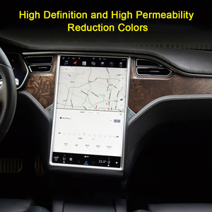 Image 4 - Ultra Thin Full Car Navigation Film Center Control HD Anti Fingerprint Invisible Screen Protector Scratchproof For Tesla Model 3