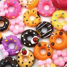 Dollhouse Miniature Resin 10pcs/Lot Phone-Case Decor Crafts Food-Toys Doughnut DIY