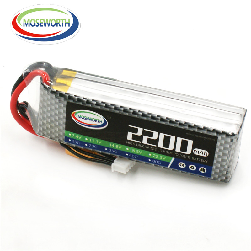 MOSEWORTH 3S RC Lipo battery 11.1v 2200mAh 25C For rc helicopter car boat quadcopter 3s Li-Polymer batteria