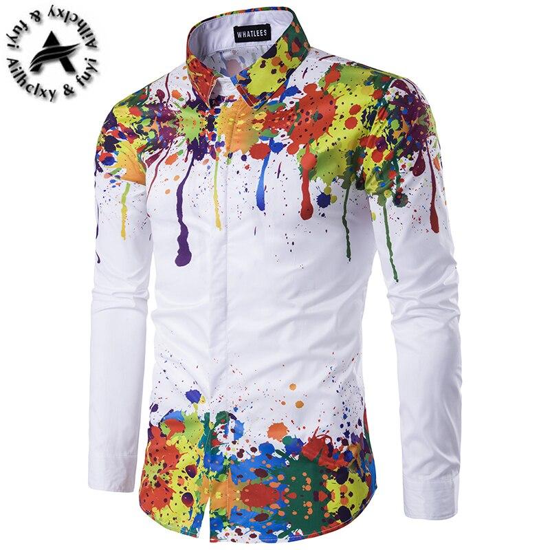 Coton Hommes Marque la De de Chemise mode Vague Luxe 2016 Designer Cfqx0wnX