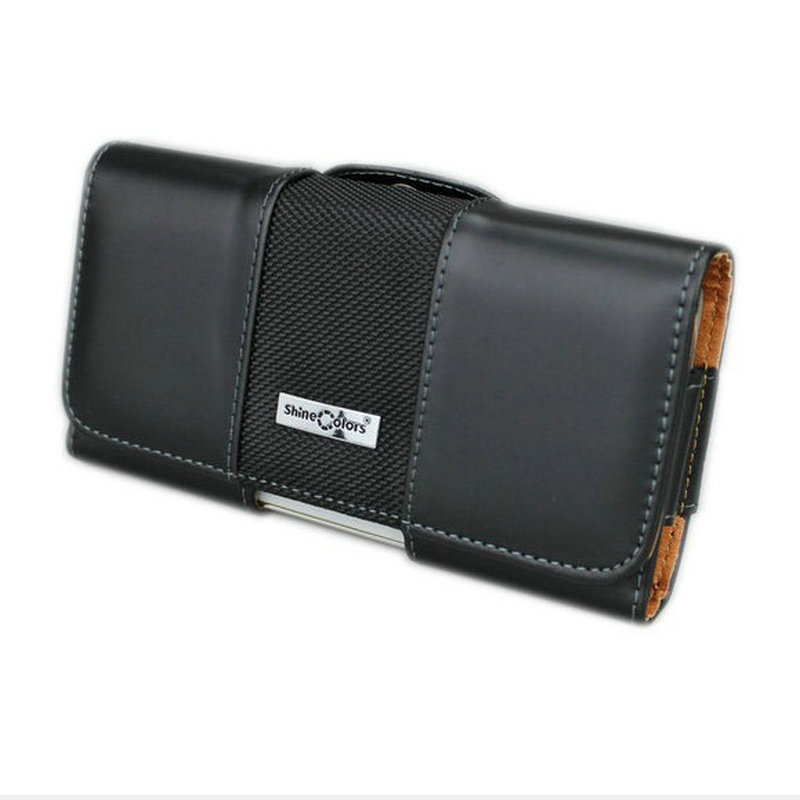 horizontal leather pouch for iphone x carrying case with