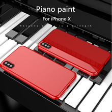 Piano Baking Varnish Glossy Case for iPhone X XR Xs Max Piano Paint Hard PC Shockproof Back Cover for iPhone 8 7 6S 6 Plus Case music piano pattern protective crystalplastic back case for iphone 5 black silver