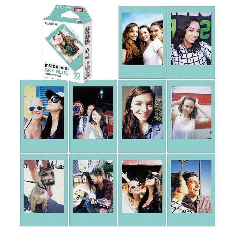 Genuine-Fujifilm-Fuji-Instax-Mini-Film-Monochrome-Mono-Black-Sky-Blue-Film-30-pcs-for-Mini