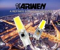karwen 10 шт./лот удара G4 G9 с лампа Е14 dimable переменного тока/постоянного тока 12 в 220 в 6 вт 9 вт 360 угол Luca заменить галогенные лампы блеск огни