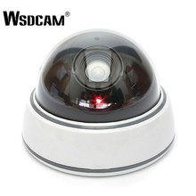 Wsdcam Home Family Outdoor CCTV Camera Fake Dummy Camera Surveillance Security Dome Mini Dummy Camera with LED Light White(China)