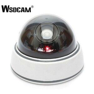 Image 1 - Домашняя камера видеонаблюдения Wsdcam, купольная мини камера видеонаблюдения с фальшивым манекеном, светодиодный светильник белого цвета