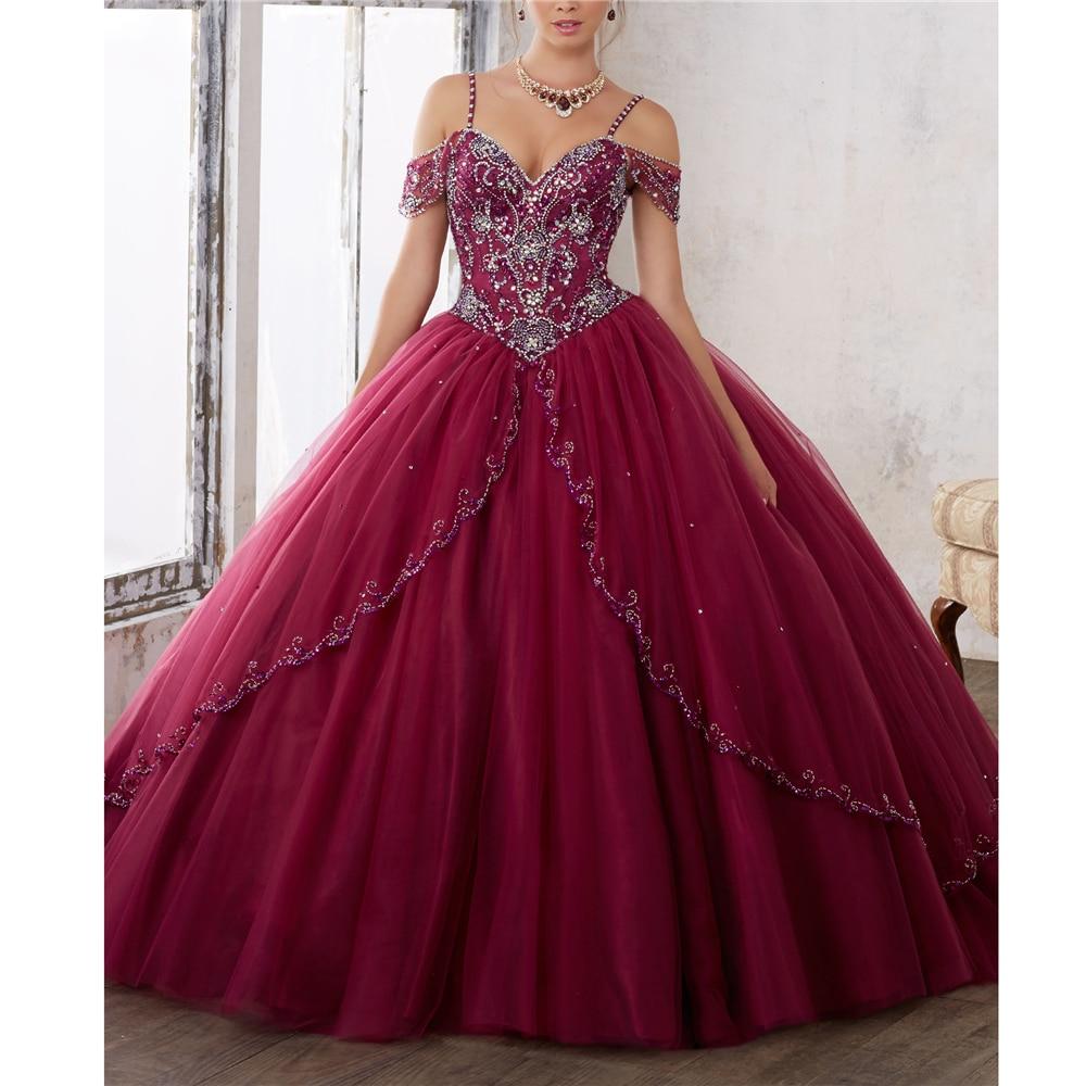 Elegant Spaghetti Straps Tullle Appliques Beading Tiered Vestido 15 Anos Curto Vestidos De Fiesta De 15 Quinceanera Dresses