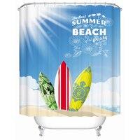 2016 Thickening Beach Shower Curtain Personalized Living Room Waterproof Cortina Hotel Bathroom Curtains Window Screens