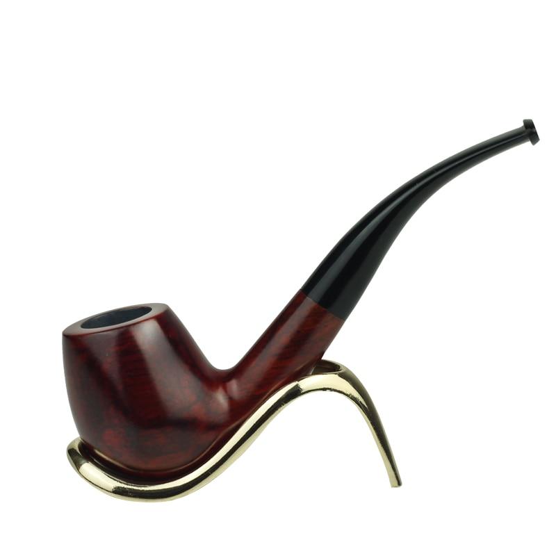 Palissandre 15 cm Grande Taille Plié Type Pipe En Bois Tabac à Pipe pour Fumer de L'herbe Tuyau W/Alimentaire-grade En Plastique Porte-Parole