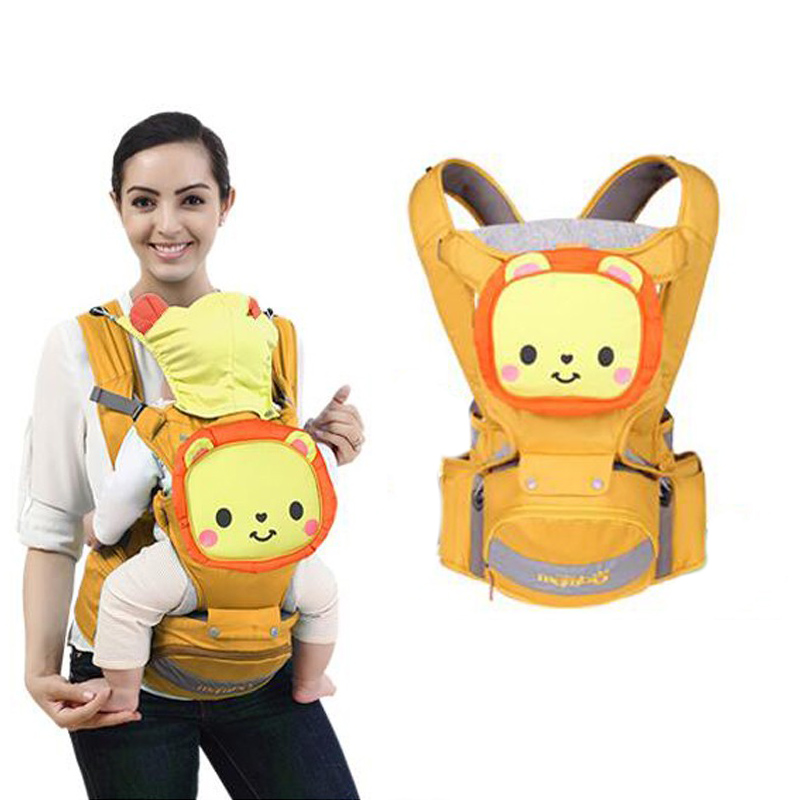 Multifunction Hipseat Kangaroo Baby Carrier Bag Basket Backpack 4 in 1 Infant Baby Care with Seat Front Facing 3~36 Month Strech multi function baby carrier 4 seasons breathable infant backpack travel portable baby hipseat porte bebe mochila kangaroo bag