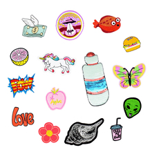 1PCS Hot Sale Stripe Stitchwork Series Patches for Glue Embroidery Clothing Patch for Kid Clothing Iron Transfer Applique Patch