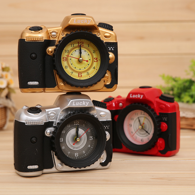 Creative Camera Alarm Clock Fashion Bedside Retro Nostalgic Alarm Childrens Gifts Student Gift