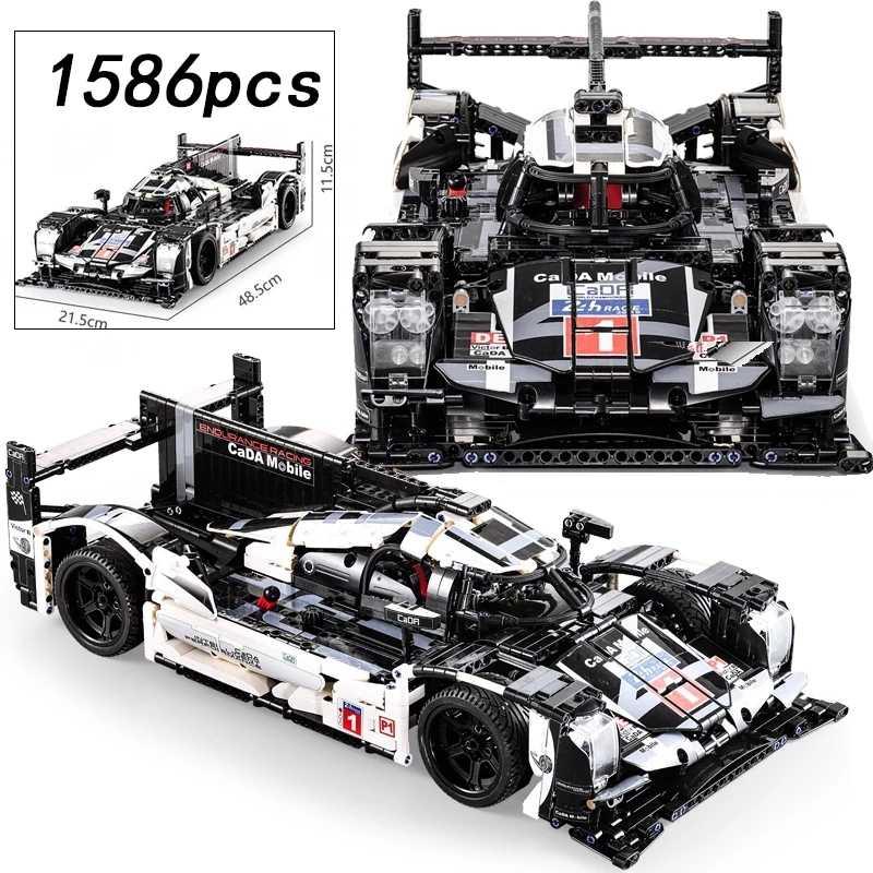 1586pcs Cada 1:9. 5 F1 Formule Racewagen Bouwsteen Racing Auto Technic Serie Mechanische Power DIY Speelgoed Voor Kinderen