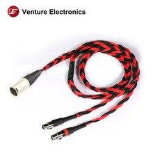 Venture Electronics Basic Black litz 4 PIN MINI XLR  2.5mm 4.4mm balanced headphone cable