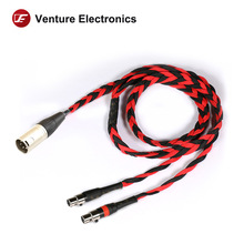 Venture Elektronica Basic Zwart Litz 4 Pin Mini Xlr 2.5Mm 4.4Mm Balanced Hoofdtelefoon Kabel