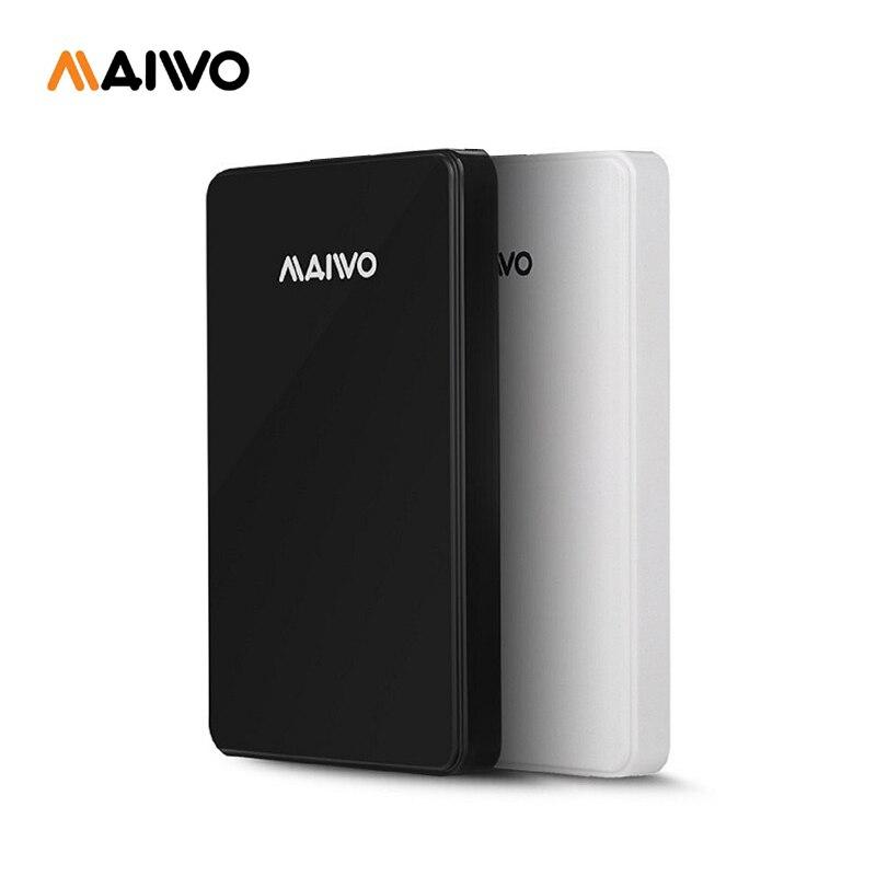 Бесплатная доставка MAIWO оригинальный Портативный HDD USB3.0 хранения внешний жесткий диск 500 ГБ настольных и портативных Plug and Play best цена ...