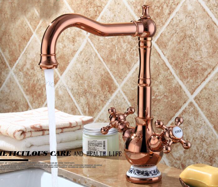 Free Shipping bathroom basin gold or rose gold or antique brozen Brass body tap New Luxury Single Handle hot and cold tap BF545 pastoralism and agriculture pennar basin india
