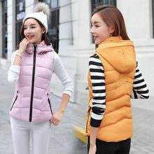 Woman Fashion collar cotton vest 2018 autumn and winter new women printed down Waistcoat