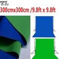 3x3 M Doble Cara 2 Tela $ number pies x $ number pies de Fondo Chroma Verde y Azul de Algodón Blanco y Negro clave de Muselina Telones de fondo de Pantalla de material