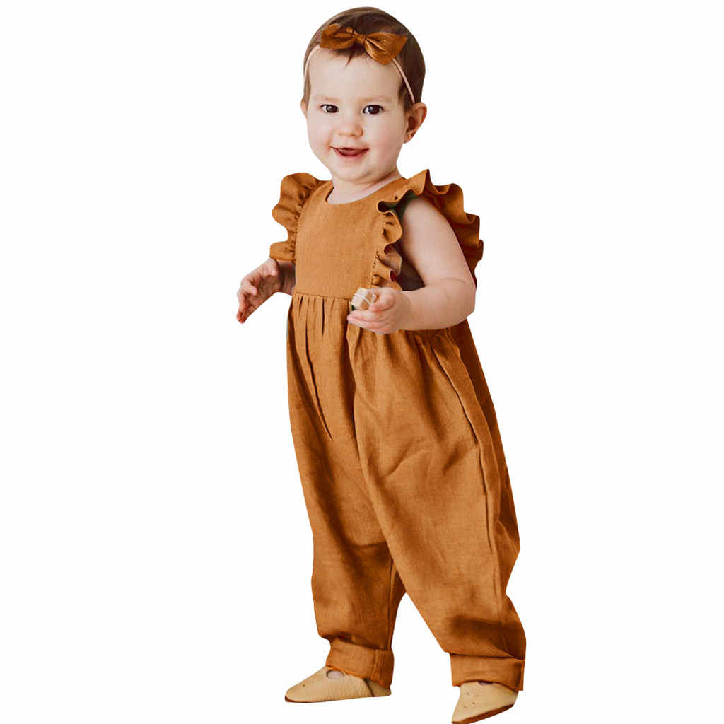 Summer Toddler Baby Boys/&Girls Sleeveless Solid Print Romper Bodysuit Playsuits