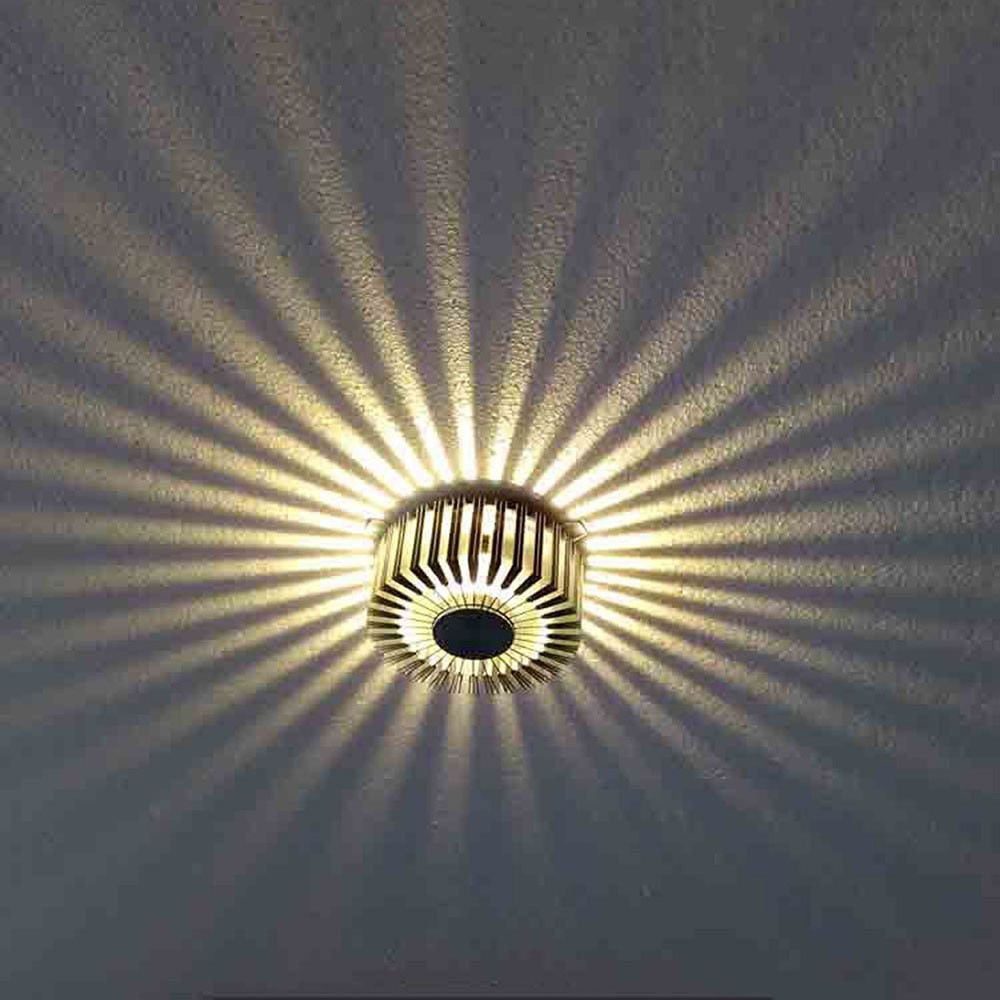Silver 3W LED Wall Lamps Porch Decor Sun Flower Lamp AC100 240V Down Light  FOR Home Indoor Ceiling Living Room Bedroom Lighting In Spotlights From  Lights ...