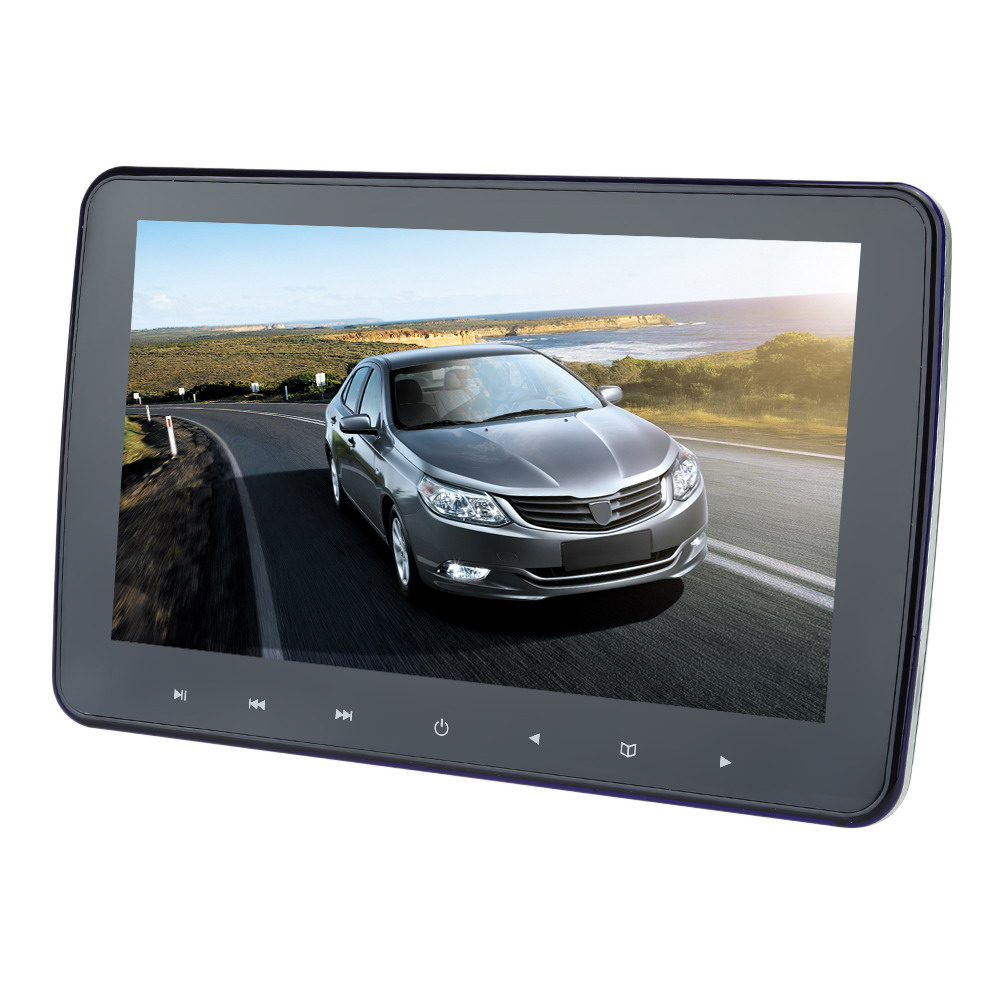 10 inch HD Digital TFT Touch Button LCD Screen Car Headrest Monitor DVD Player USB/SD MP5 Player IR/FM Game with Remote 9 inch 2 car headrest dvd player pillow universal digital screen zipper car monitor usb fm cd sd tv game two ir remote control