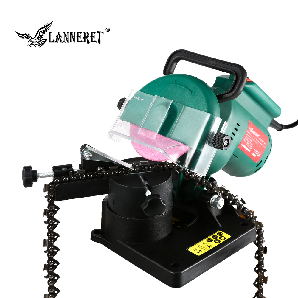 """Image 4 - LANNERET 220W 100mm 4"""" Inches Power Chain Saw Sharpener Grinder Machine Garden Tools Portable Electric Chainsaw Sharpener-in Grinders from Tools"""