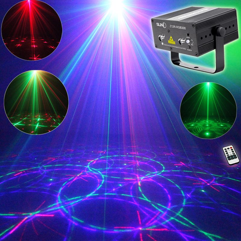 Mini RGB Laser Projector Light Red Green Blue Mixing DJ Disco Stage Lighting Effect For Bar Club Party Show Lights new mini red blue line pattern gobo remote laser projector dj club light dance bar party xmas disco effect stage lights show b55