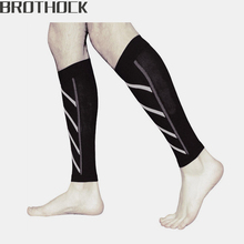 Brothock Compression thin calfskin sports socks night running nylon fluorescent leggings Basketball