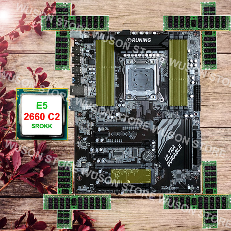 Runing Super X79 LGA2011 motherboard CPU RAM set max support 8*16G 1866 memory CPU Intel Xeon E5 2660 C2 RAM 32G(8*4G) DDR3 RECC new arrival huanan x79 deluxe motherboard cpu ram set x79 lga2011 motherboard intel xeon e5 2660 c2 ram 16g 2 8g ddr3 recc