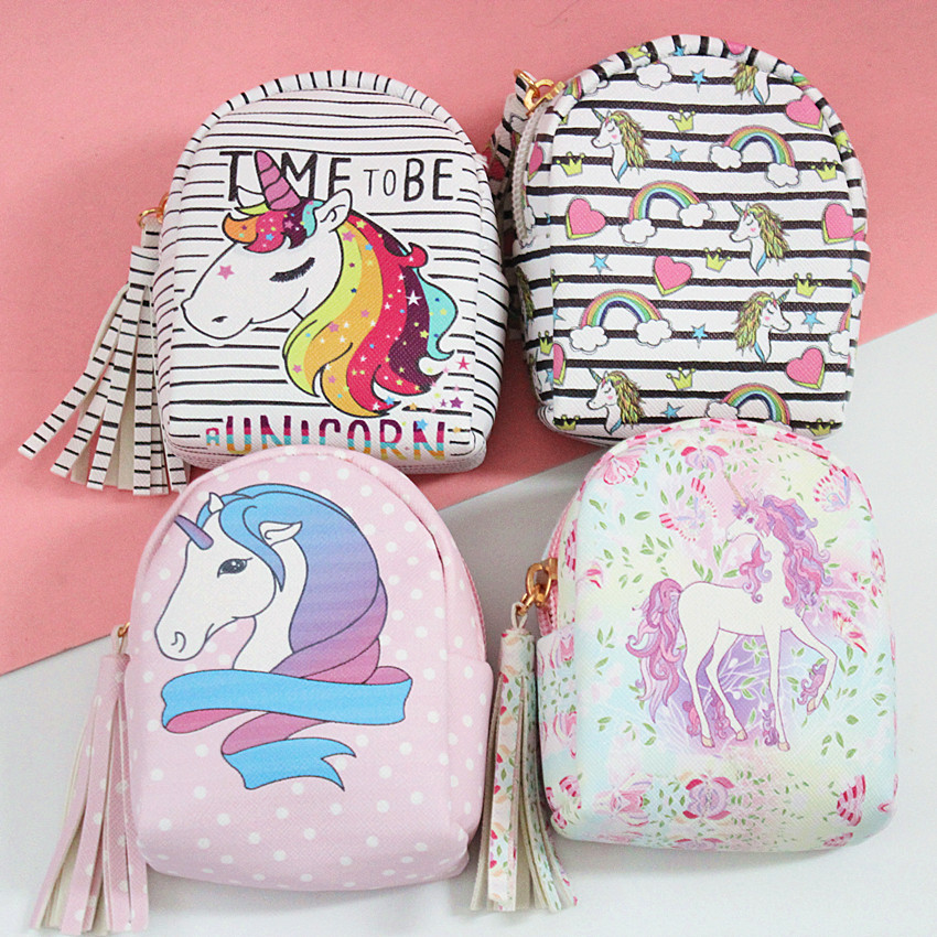 M042 2018 New Cartoon Creative Women Coin font b Purses b font Cute Unicorn Styles Zero