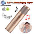 Free shipping! Portable Karaoke Wireless Bluetooth Microphone KTV Player Speaker For IOS Android Smartphone PC