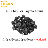 BHKEY 10X 20X ID 4C Blank Chip Not Coded ID4C For Toyota Camry Prado Corolla Crown Ford