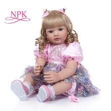 Boneca para criança, boneca de 60cm com cabelo encaracolado longo, cabelo loiro, brinquedos, coleção limitada, presente de aniversário