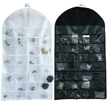 Bathroom Storage Bag 32 Pockets Hanging Double-Sided Non-Woven Home Supplies Restroom Small Item Collection
