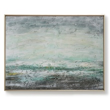 Large size Painting Oil green color painting hand painted Abstract Art Picture For Living Room No Frame