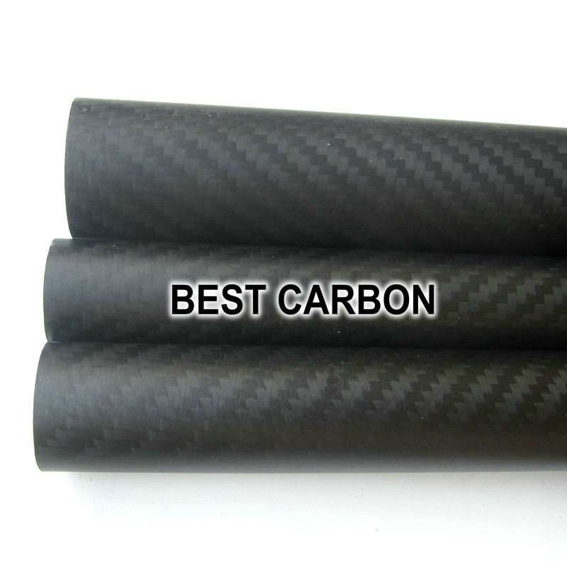 ФОТО OD35mm x ID32mm High quality 3K Carbon Fiber Fabric Wound/Winded/WovenTube,spear gun tube handle