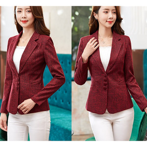 Image 5 - Autumn Spring Womens Blazer Elegant fashion Lady Blazers Coat Suits Female Slim Office Lady Jacket Casual Tops Plus size S 6XL