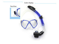 Snorkeling suit (diving surface mirror + breathing tube) double mirror frame tempered glass mirror