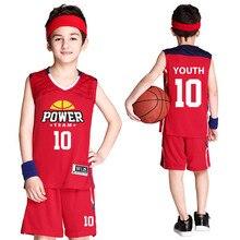 Blank Basketball Jerseys Kids Basketball Uniform Polyester Retro Jerseys Basketball Training Suit Breathable Sportswear Custom цена 2017