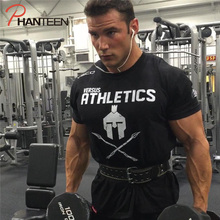 ACHIEWELL Summer musclebuilding Fitness workout mens t-shirt bottoming shirt casual top